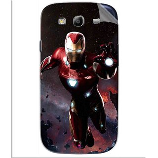 Snooky Printed Flying Iron Man Pvc Vinyl Mobile Skin Sticker For Samsung Galaxy S3