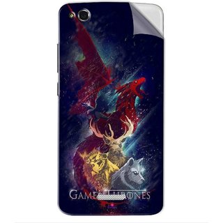 Snooky Printed Game of Thrones Pvc Vinyl Mobile Skin Sticker For Gionee CTRL V6L