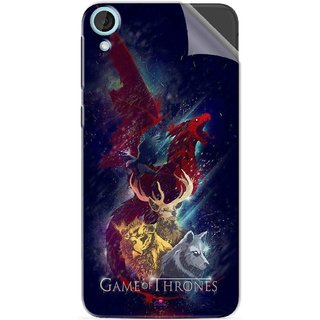 Snooky Printed Game of Thrones Pvc Vinyl Mobile Skin Sticker For HTC Desire 820