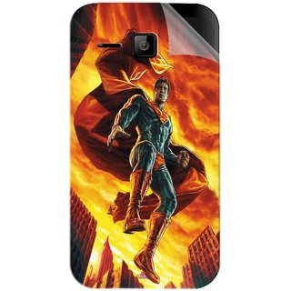 Snooky Printed Flying Super Man Pvc Vinyl Mobile Skin Sticker For Micromax Bolt S301