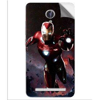 Snooky Printed Flying Iron Man Pvc Vinyl Mobile Skin Sticker For Lava Iris Fuel F1
