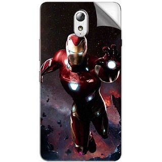 Snooky Printed Flying Iron Man Pvc Vinyl Mobile Skin Sticker For Lenovo Vibe P1M