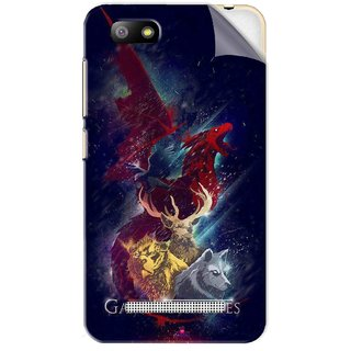 Snooky Printed Game of Thrones Pvc Vinyl Mobile Skin Sticker For Lava Flair P3