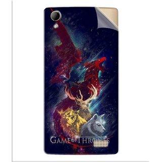 Snooky Printed Game of Thrones Pvc Vinyl Mobile Skin Sticker For Intex Aqua Y2 Ultra