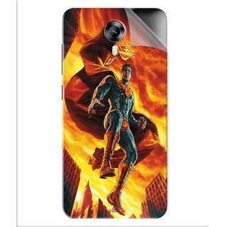 Snooky Printed Flying Super Man Pvc Vinyl Mobile Skin Sticker For Micromax Canvas Express 2 E313