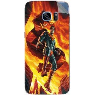 Snooky Printed Flying Super Man Pvc Vinyl Mobile Skin Sticker For Samsung Galaxy S7 Edge