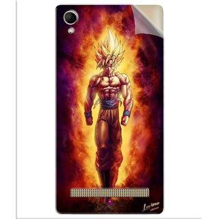 Snooky Printed Goku cartoon Pvc Vinyl Mobile Skin Sticker For Intex Aqua Power Plus