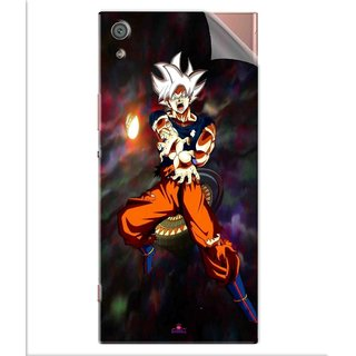 Snooky Printed Goku Pvc Vinyl Mobile Skin Sticker For Sony Xperia x1a Ultra