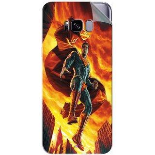 Snooky Printed Flying Super Man Pvc Vinyl Mobile Skin Sticker For Samsung Galaxy S8 Plus