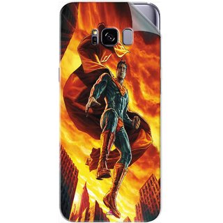 Snooky Printed Flying Super Man Pvc Vinyl Mobile Skin Sticker For Samsung Galaxy S8