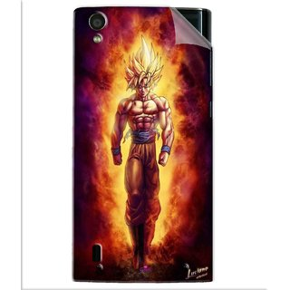 Snooky Printed Goku cartoon Pvc Vinyl Mobile Skin Sticker For Vivo Y15
