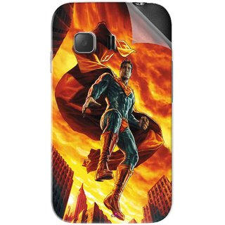 Snooky Printed Flying Super Man Pvc Vinyl Mobile Skin Sticker For Samsung Galaxy Young 2