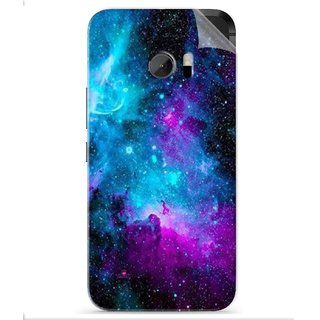 Snooky Printed Galaxie spirale Pvc Vinyl Mobile Skin Sticker For HTC One M10