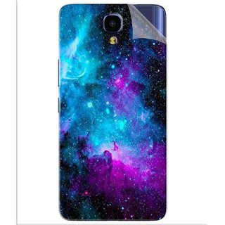 Snooky Printed Galaxie spirale Pvc Vinyl Mobile Skin Sticker For Infinix Note 4