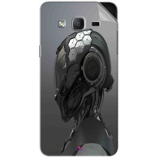 Snooky Printed Futuristic Helmet Pvc Vinyl Mobile Skin Sticker For Samsung Galaxy On7 Pro