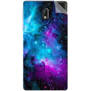 Snooky Printed Galaxie spirale Pvc Vinyl Mobile Skin Sticker For Nokia 3