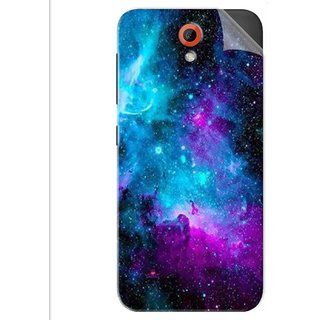 Snooky Printed Galaxie spirale Pvc Vinyl Mobile Skin Sticker For Htc Desire 620