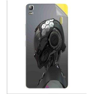 Snooky Printed Futuristic Helmet Pvc Vinyl Mobile Skin Sticker For Lenovo K3 Note