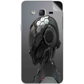 Snooky Printed Futuristic Helmet Pvc Vinyl Mobile Skin Sticker For Samsung Galaxy On7