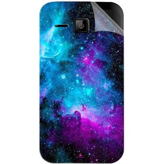 Snooky Printed Galaxie spirale Pvc Vinyl Mobile Skin Sticker For Micromax Bolt S301