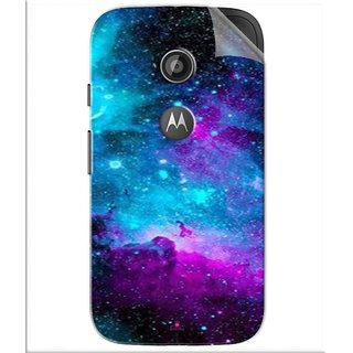 Snooky Printed Galaxie spirale Pvc Vinyl Mobile Skin Sticker For Motorola Moto E2