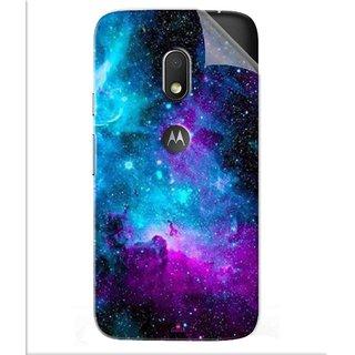 Snooky Printed Galaxie spirale Pvc Vinyl Mobile Skin Sticker For Motorola Moto G4 Play
