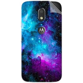 Snooky Printed Galaxie spirale Pvc Vinyl Mobile Skin Sticker For Motorola Moto E3