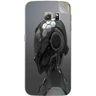 Snooky Printed Futuristic Helmet Pvc Vinyl Mobile Skin Sticker For Samsung Galaxy S6 Edge