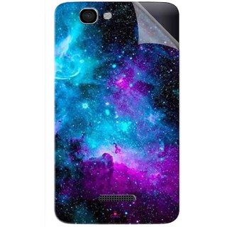 Snooky Printed Galaxie spirale Pvc Vinyl Mobile Skin Sticker For Micromax Canvas 2 A120