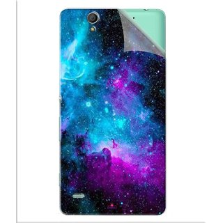 Snooky Printed Galaxie spirale Pvc Vinyl Mobile Skin Sticker For Sony Xperia C4