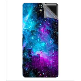 Snooky Printed Galaxie spirale Pvc Vinyl Mobile Skin Sticker For Sony Xperia C5