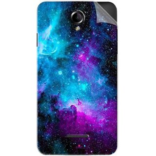 Snooky Printed Galaxie spirale Pvc Vinyl Mobile Skin Sticker For Panasonic Eluga L2