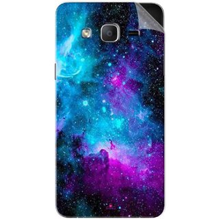 Snooky Printed Galaxie spirale Pvc Vinyl Mobile Skin Sticker For Samsung Galaxy On7 Pro