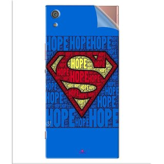 Snooky Printed Hope Super Man Pvc Vinyl Mobile Skin Sticker For Sony Xperia x1a Ultra