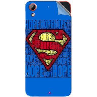 Snooky Printed Hope Super Man Pvc Vinyl Mobile Skin Sticker For HTC Desire 628