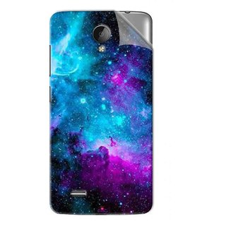 Snooky Printed Galaxie spirale Pvc Vinyl Mobile Skin Sticker For Vivo Y22