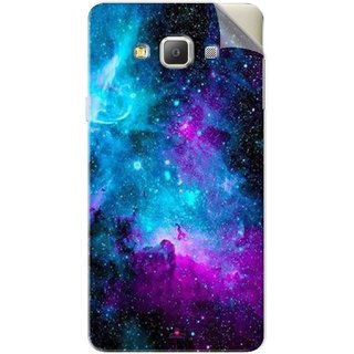 Snooky Printed Galaxie spirale Pvc Vinyl Mobile Skin Sticker For Samsung Galaxy E5