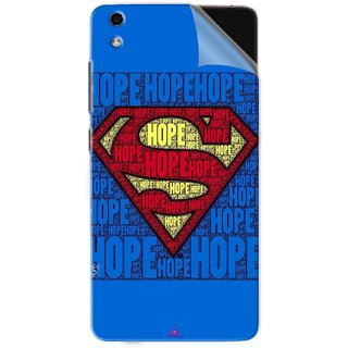 Snooky Printed Hope Super Man Pvc Vinyl Mobile Skin Sticker For LYF Water 5