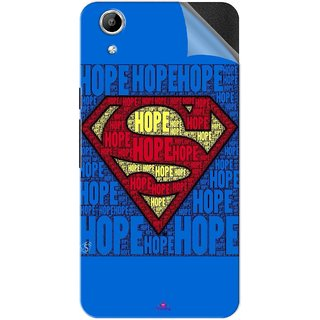 Snooky Printed Hope Super Man Pvc Vinyl Mobile Skin Sticker For Micromax Canvas Selfie Lens Q345