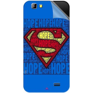 Snooky Printed Hope Super Man Pvc Vinyl Mobile Skin Sticker For LYF Wind 5