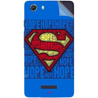 Snooky Printed Hope Super Man Pvc Vinyl Mobile Skin Sticker For Micromax Canvas Unite 3