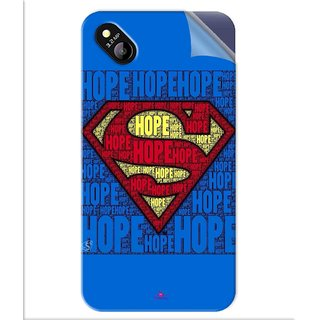 Snooky Printed Hope Super Man Pvc Vinyl Mobile Skin Sticker For Micromax Bolt D303