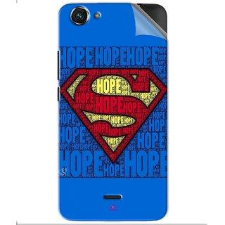 Snooky Printed Hope Super Man Pvc Vinyl Mobile Skin Sticker For Micromax Bolt Q338