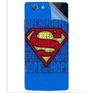 Snooky Printed Hope Super Man Pvc Vinyl Mobile Skin Sticker For Oppo A31T