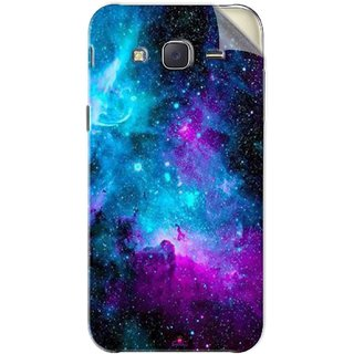 Snooky Printed Galaxie spirale Pvc Vinyl Mobile Skin Sticker For Samsung Galaxy J5