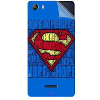 Snooky Printed Hope Super Man Pvc Vinyl Mobile Skin Sticker For Micromax Canvas 5 E481