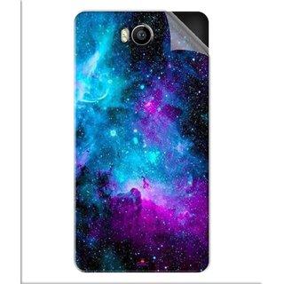 Snooky Printed Galaxie spirale Pvc Vinyl Mobile Skin Sticker For Intex Aqua 4.5e