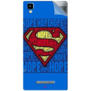 Snooky Printed Hope Super Man Pvc Vinyl Mobile Skin Sticker For Panasonic Eluga A2