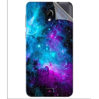 Snooky Printed Galaxie spirale Pvc Vinyl Mobile Skin Sticker For Intex Aqua Q7