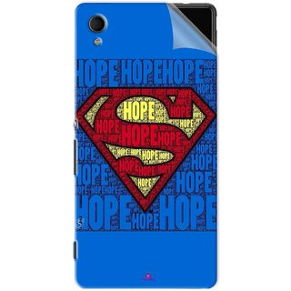 Snooky Printed Hope Super Man Pvc Vinyl Mobile Skin Sticker For Sony Xperia M4